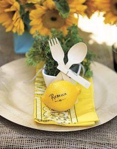 lemon place card via Country Living