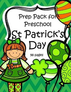 This is a comprehensive set of printables with a St. Patrick's Day theme - make hands-on, interactive activities and learning games for your preschool and pre-K classroom. Engaging graphics, most activities are developmentally appropriate for ages 3 - 5, and SPED. 98 pages.