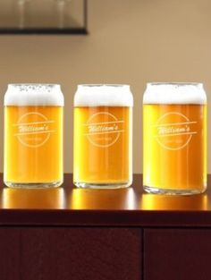 Personalized Craft Home Brew Can Glasses http://rstyle.me/n/mcmqvnyg6