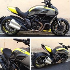 That yellow and black mock up is similar to what I have planned for my bike when I have the spare cash. My Dream Car, Dream Cars, Ducati Diavel, Mopeds, Super Bikes, Custom Bikes, Motorbikes, Luxury Cars, Biker