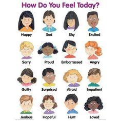 Feelings chart i really like that it has real kids feelings