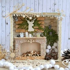 Jay D'Event Stylist By:arncamugao design. Christmas Fireplace, Christmas Mood, Handmade Decorations, Christmas Decorations, Christmas Ornaments, Box Frame Art, Christmas Shadow Boxes, Shabby Chic Crafts, Craft Free