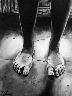 """""""The Window"""" ~ charcoal on paper ~ 30""""x24"""" ~ 2008 ~ www.rupeshpatric.com"""