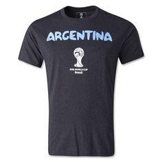 Argentina 2014 FIFA World Cup T-Shirt (Dark Gray) Fifa World Cup 756803df603fa