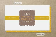Stay at Home Mom Business Cards by chica design at minted.com