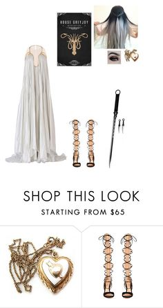 """""""Magical girl of house Greyjoy 🌊"""" by sapphirejones ❤ liked on Polyvore featuring Gianvito Rossi, Maria Lucia Hohan and BHCosmetics"""