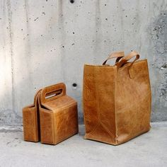 Leather Paper Bag - isn't this just grrreat? Love....