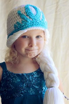PDF Crochet Pattern for Elsa Hat Toddler to by AdorkableCrochet