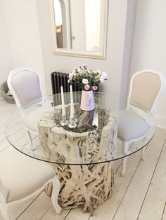 M Square Teak Root Dining Table Made From A Real Teak Tree Root - Teak root dining table base