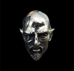 Bronze Anton Lavey Pope of the Church of Satan Ring-Custom Size-Free Shipping #Handmade #Statement