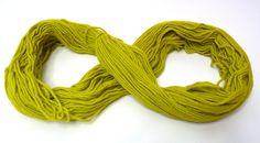 Apple Green Merino wool hand dyed yarn color block by feltbasic