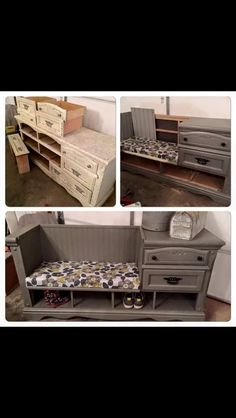 DIY Old dresser turned into an Awesome Bench!