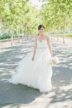 That dress! http://www.stylemepretty.com/california-weddings/calistoga/2015/07/02/elegant-intimate-napa-valley-summer-wedding/   Photography: Onelove Photography - http://www.onelove-photo.com/