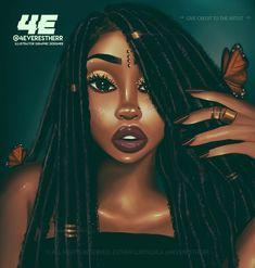 Cartoon Drawing Tips - Drawing On Demand Black Love Art, Black Girl Art, Art Girl, African American Art, African Art, Black Power, Dibujos Tumblr A Color, Drawings Of Black Girls, Arte Black