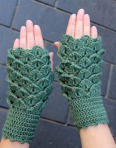 Hand Crocheted Fingerless Gloves, Women, Accessories, Gloves & Mittens, Gift Ideas, For Her, Winter Accessories, Green,READY TO SHIP