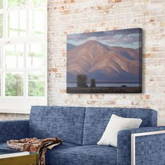 Landscape painting of the Great Salt lake as seen from Farmington Bay, Utah. Farmington Bay View Mountain Wall Art by Rob Colvin from Great BIG Canvas. Big Canvas, Canvas Art, Canvas Prints, Big Wall Art, Wall Art Decor, Landscape Art, Landscape Paintings, Landscapes, Photo To Art