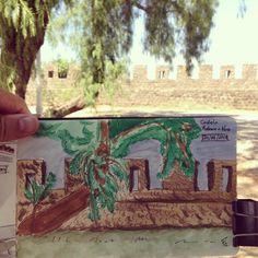 Castelo Urban sketching Urban Sketching, Sidewalk