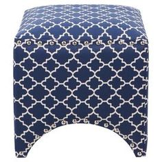 Kingston Ottoman in Navy