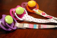 DIY pacifer clips - I think I might even be able to do this! :)