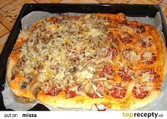 Pizza bez droždí recept - TopRecepty.cz