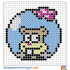 Sandy face Perler Bead Pattern and Designs Perler Bead Designs, Easy Perler Bead Patterns, Melty Bead Patterns, Perler Bead Templates, Beading Patterns Free, Perler Bead Art, Perler Beads, Cross Stitch Patterns, Cutest Animals