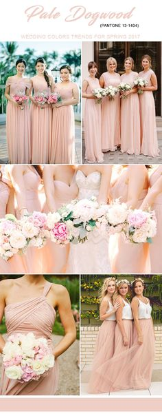 spring 2017 bridesmaid dresses color ideas for weddings 2017 Wedding Trends, Wedding Themes, Wedding Colors, Wedding Styles, Wedding Motif Color, Wedding Ideas, Garden Bridesmaids Dresses, Bridesmaid Dress Colors, Bridesmaids And Groomsmen
