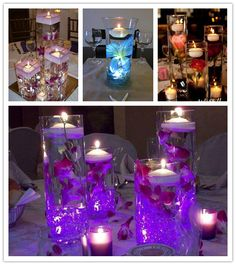 I saw these on Pinterest while looking for some centerpiece ideas. These look so beautiful and I wanted them so badly. So I headed to Amazon, and here is what I found. I am thinking if I put purple...