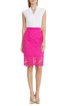 Designer Clothes, Shoes & Bags for Women Stylish Outfits, Fashion Outfits, Formal Outfits, Stylish Clothes, Fall Outfits, Summer Outfits, Pink Lace Skirt, Floral Lace, Pink Skirt Outfits