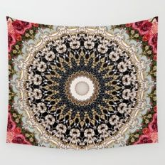 Wall Tapestry featuring Mandala Hahusheze  by Elias Zacarias