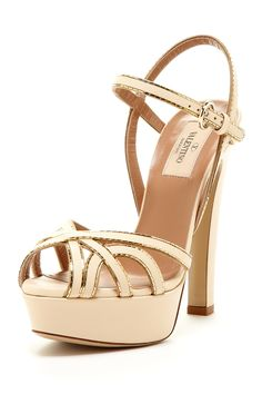Valentino Metallic Trim Sandal