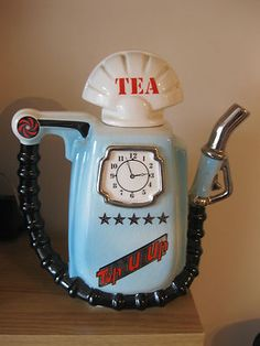 """Very Rare Fuel Pump Teapot From """"Sunshine Ceramics"""" Early Cardew. @designerwallace"""