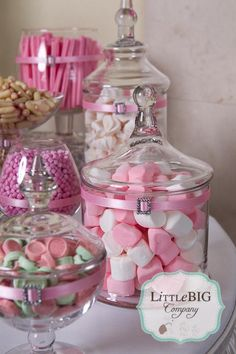 little big company the blog beautiful pink candy buffet for a special girl