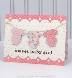 Popper and Mimi: A2 Card Storage Box and Baby Girl Onesie Card