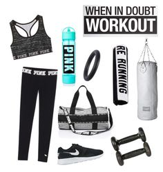 """""""Gym Time"""" by crissie-cabrera on Polyvore featuring NIKE, Seletti, HAY, Running Bare, women's clothing, women, female, woman, misses and juniors"""