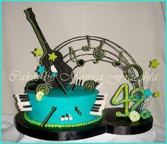 TORTA DECORADA INSTRUMENTOS MUSICALES | TORTAS CAKES BY MONICA FRACCHIA