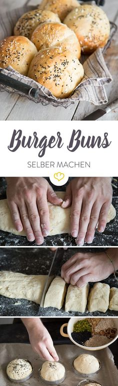Voll aufgegangen – So backst du die besten Burger Buns Do you want to make really good burger buns at home? Read this ultimate guide to perfect buns and build the best burger buns. Bun's Burger, Best Burger Buns, Beste Burger, Good Burger, Burger Recipes, Grilling Recipes, Bread Recipes, Bread Baking, Pain