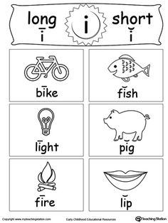 Short and Long Vowel Flashcards: U | Long vowels, Worksheets and ...