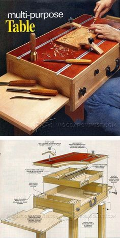 Carving Table Plans - Wood Carving Patterns and Techniques | WoodArchivist.com