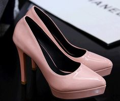 Feather  Sexy high-heeled pointy pumps, high platform too, pull on type, pu leather  Heel 10 cm  Platform 2 cm  Wideth 6.5 cm  Size-SA Size 1-6, Eur Size 33-39 US size 3-8.5  Color available white, black, red, pink, gray  Condition-100% brand n...