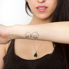 Elephants In Love temporary tattoo. Buy here >>>...