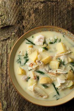 Fish Chowder, Chowder Soup, Fish Soup, Chowder Recipes, Seafood Recipes, Soup Recipes, Cooking Recipes, Cooking Fish, Cooking Pasta