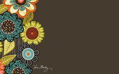 Vera Bradley Desktop Wallpaper 'Flower Shower' (Summer 2014)
