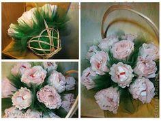 Мастер-класс по сладким букетам: Корзина роз из Raffaello