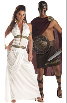 Spartan Couples Costume, Sexy Spartan Couples Costume, Spartan King and Queen Couples Costume, Greek Couples Costume Halloween Kostüm, Couple Halloween Costumes, Cool Costumes, Cosplay Costumes, Sexy Couples Costumes, Costume Ideas, Greek God Costume, Greek Goddess Costume, Greek Costumes