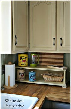 My Kitchen Cabinets with Chalk Paint® - The Update by Whimsical Perspective