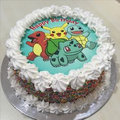 Pokemon edible image ice cream cake!