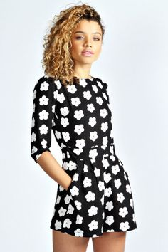 Shop boohoo's range of womens and mens clothing for the latest fashion trends you can totally do your thing in, with of new styles landing every day! Black And White Romper, Black Playsuit, Black White, Playsuits, Jumpsuits, Online Shopping Clothes, Get Dressed, Pretty Outfits, Dress To Impress