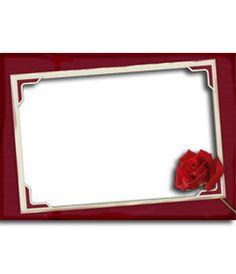 Rosas rojas, marco para fotos. Edita una fotografía desde esta página, como recuerdo de San Valentín. http://www.fotoefectos.com