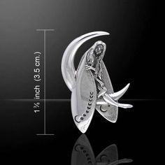 Guardian-Fairy-Crescent-Moon-925-Sterling-Silver-Pendant-Peter-Stone