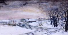 A Winter Road | Watercolor | #ASI